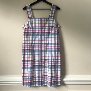 Telluride Clothing Co Plaid Sleeveless Shift Dress